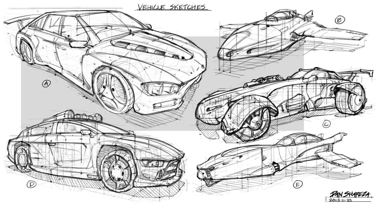 Concept Car Sketches >> Quick Vehicle Sketches – Dan Shareza
